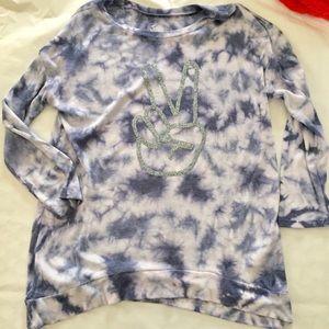 Girls Justice 3/4 Sleeve Tie Dye Knit Top 16
